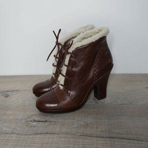 Aerosoles Envision Lace-Up Leather Bootie Boots